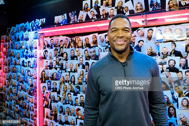 Michael Strahan backstage during The Late Late Show with James Corden Friday November 11 2016 On The CBS Television Network