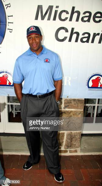 Michael Strahan during Michael Strahan Dreier LLP First Annual Golf Tournament at Century Country Club in Purchase New York United States