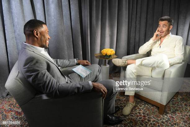 AMERICA Michael Strahan interviews Chris Pine on 'Good Morning America' airing Thursday June 1st on the ABC Television Network MICHAEL