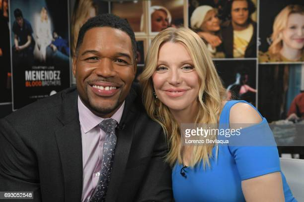 AMERICA Michael Strahan interviews Courtney Love on Good Morning America Wednesday June 7 2017 on the Walt Disney Television via Getty Images...