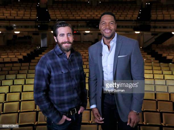 Michael Strahan interviews Jake Gyllenhaal on 'Good Morning America' Monday March 27 airing on the ABC Television Network GM17 JAKE