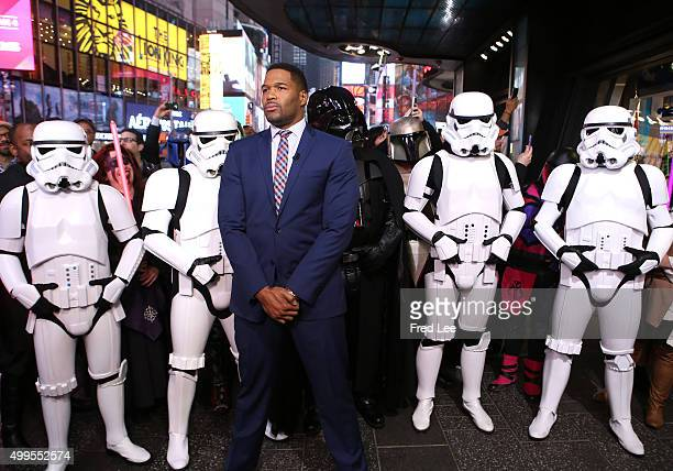AMERICA Michael Strahan is a guest on 'Good Morning America' 12/1/15 airing on the ABC Television Network