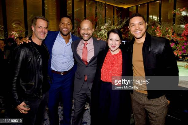 Michael Strahan KeeganMichael Key Elisa Pugliese and Trevor Noah attend The Hollywood Reporter's 9th Annual Most Powerful People In Mediaat The Pool...
