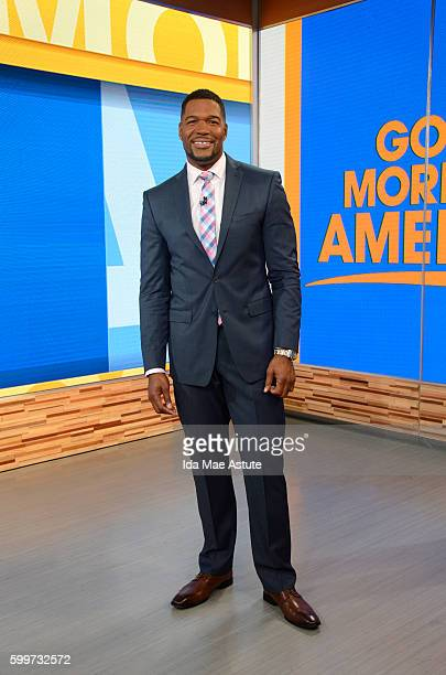AMERICA Michael Strahan on 'Good Morning America' 9/6/16 airing on the ABC Television Network MICHAEL