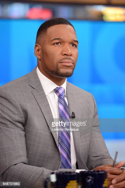 AMERICA Michael Strahan on 'Good Morning America' Thursday April 19 airing on the ABC Television Network MICHAEL