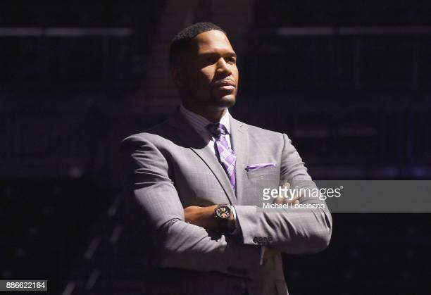 Michael Strahan presents the 2017 Sportsperson of the Year Award during the SPORTS ILLUSTRATED 2017 Sportsperson of the Year Show on December 5 2017...