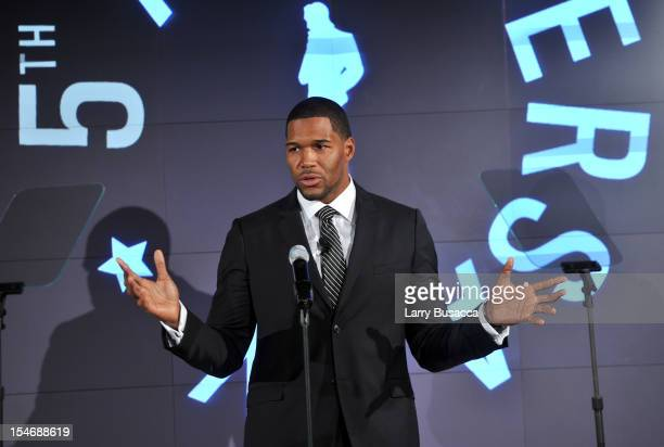 Michael Strahan speaks onstage at the 2012 GQ Gentlemen's Ball presented by LG Movado and Nautica on October 24 2012 in New York City