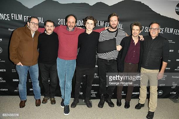 Michael Stuhlbarg Luca Guadagnino Timothee Chalamet Armie Hammer Walter Fasano Sundance Film Festival Director John Cooper attend the 'Call Me By...