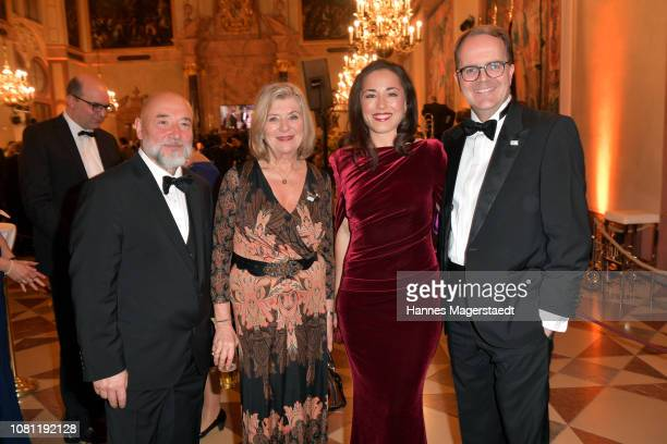 Michael Sturm Jutta Speidel Franziska Rabl and Markus Rinderspacher during the new year reception of the Bavarian state government at Residenz on...
