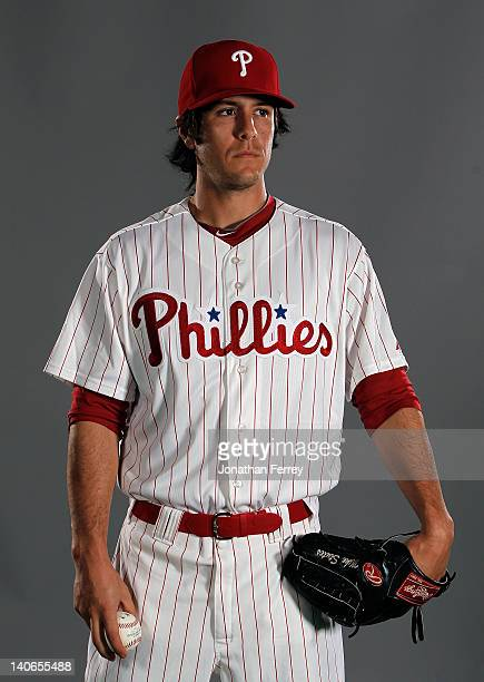 Michael Stutes of the Philadelphia Philles poses for a portrait at the Bright House Field on March 1 2012 in Clearwater Florida