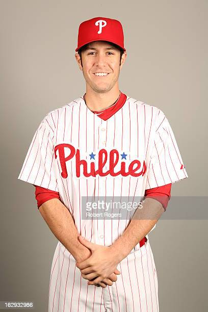 Michael Stutes of the Philadelphia Phillies poses during Photo Day on Monday February 18 2013 at Bright House Field in Clearwater Florida