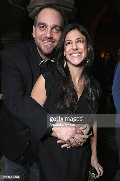 Michael Sugar and Nicole Romano of Anonymous Content attend GREY GOOSE PreOscar Party hosted by Michael Sugar Doug Wald Nathan Kahane and Warren...