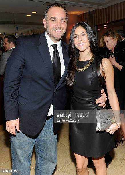 Michael Sugar and Nicole Romano of Anonymous Content attend GREY GOOSE PreOscar Party at Sunset Tower on March 1 2014 in West Hollywood California