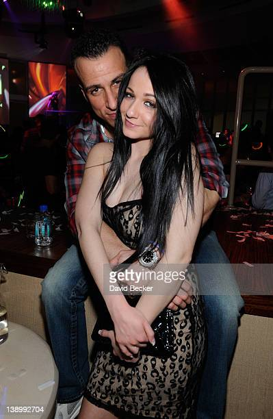 Michael Sussman and Melissa Sorrentino attend the RPM Nightclub at the Tropicana Las Vegas on February 14 2012 in Las Vegas Nevada