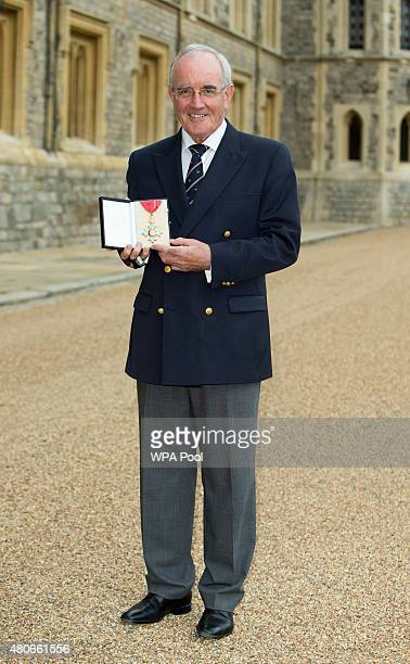 Michael Sweeney Former Chairman of Henley Royal Regatta who was made a CBE for his services to rowing by the Princess Royal at an investiture...