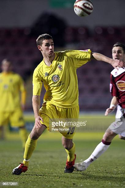 Michael Symes of Accrington Stanley in action during the Coca Cola League Two Match between Northampton Town and Accrington Stanley at Sixfields...