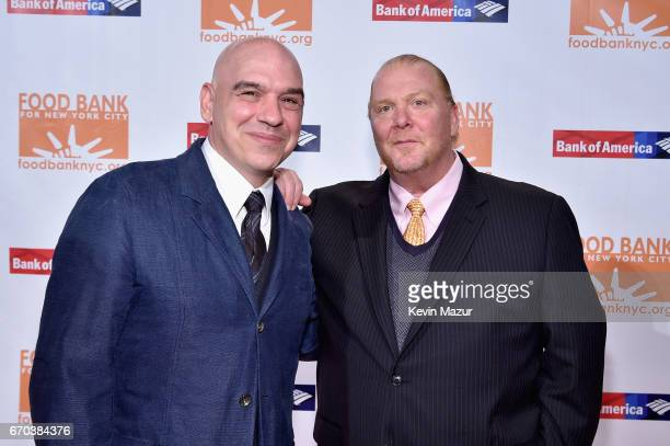 Michael Symon and Mario Batali attend the Food Bank for New York City CanDo Awards Dinner 2017 on April 19 2017 in New York City