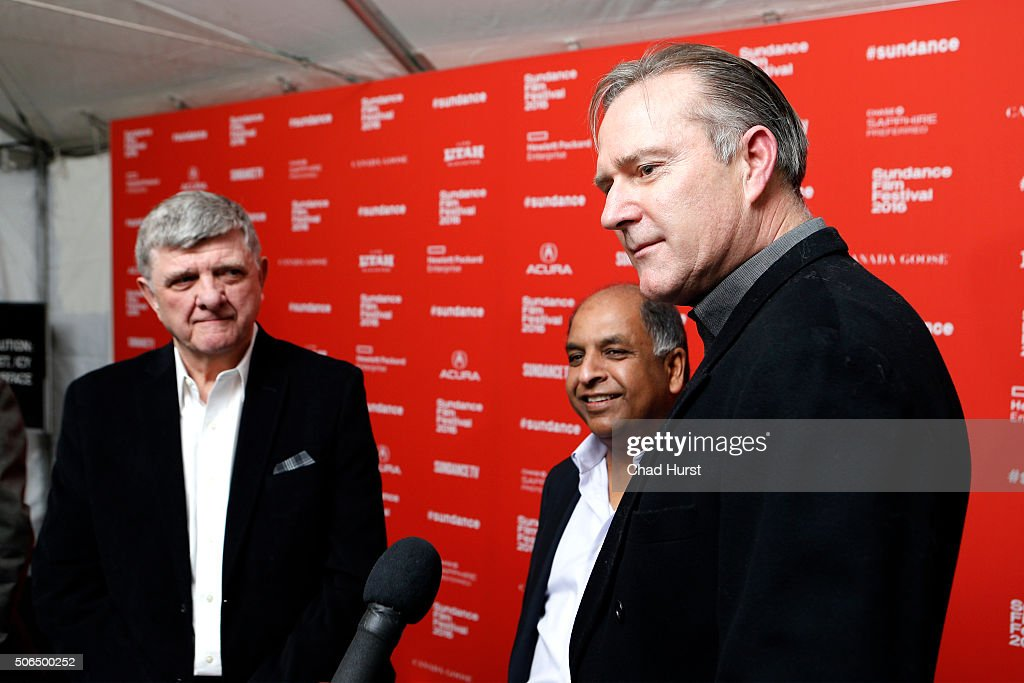 Michael Szabados, Anil Singhal, and Jim McNiel attend the 'Lo And Behold, Reveries Of The Connected World' Premiere during the 2016 Sundance Film Festival at The Marc Theatre on January 23, 2016 in Park City, Utah.