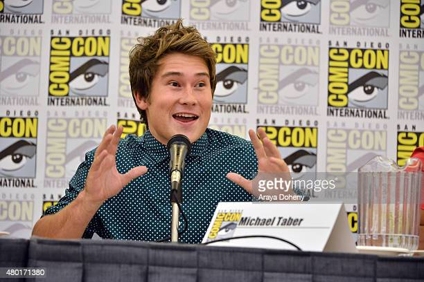 Michael Taber from Saban's Power Ranger Dino Charge participates in the official San Diego ComicCon Power Rangers panel at the San Diego Convention...