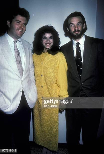 Michael Talbott, Sandra Santiago and John Diehl attend NBC TV Affiliates Dinner on May 1, 1985 at the Century Plaza Hotel in Century City, California.