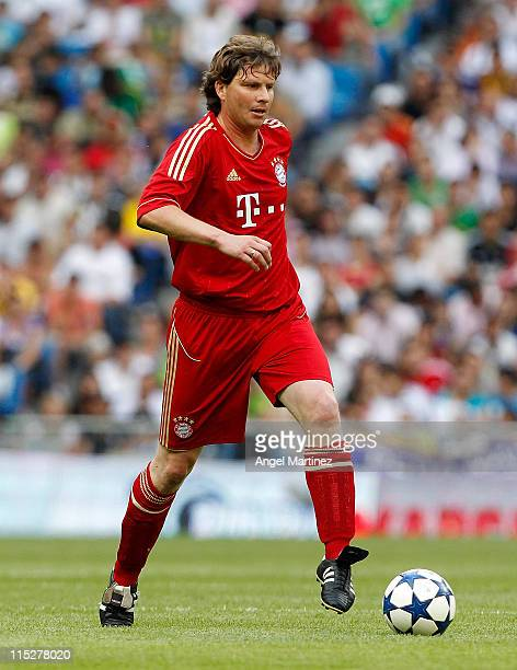 Michael Tarnat of Bayern Muenchen in action during the Corazon Classic Match between Allstars Real Madrid and Allstars Bayern Muenchen at Estadio...