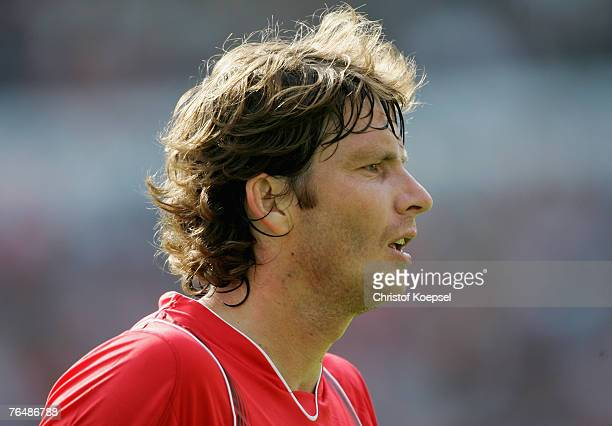 Michael Tarnat of Hanover looks on during the Bundesliga match between Hanover 96 and VfL Bochum at the AWD Arena on September 1 2007 in Hanover...