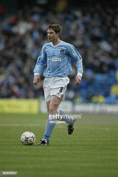 Michael Tarnat of Manchester City during the FA Barclaycard Premiership match between Manchester City and Birmingham City at The City of Manchester...