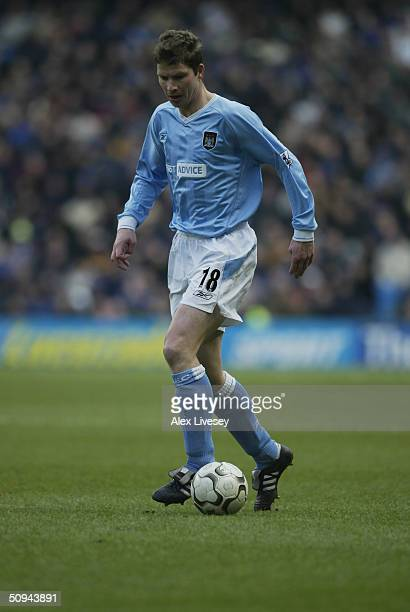 Michael Tarnat of Manchester City in action during the FA Barclaycard Premiership match between Manchester City and Chelsea at The City of Manchester...