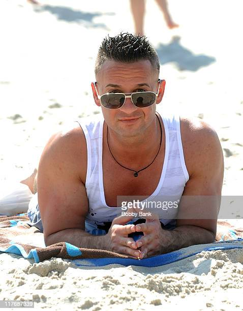 Michael 'The Situation' Sorrentino filming on location for 'Jersey Shore' at Seaside Heights on June 29 2011 in Seaside Heights New Jersey