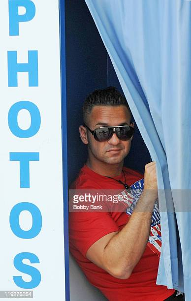 Michael 'The Situation' Sorrentino filming on location for 'Jersey Shore' on July 15 2011 in Seaside Heights New Jersey