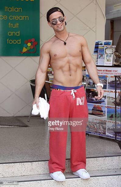 Michael 'The Situation' Sorrentino is seen on April 22 2010 in Miami Beach Florida