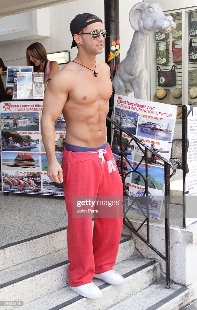 Michael 'The Situation' Sorrentino is seen on April 22, 2010 in Miami Beach, Florida.
