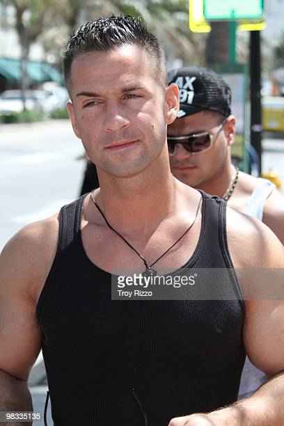 Michael 'the Situation' Sorrentino is seen on April 8 2010 in Miami Beach Florida