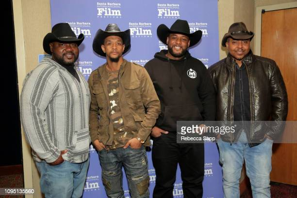 Michael Thomas Calvin Gray William Bias 'Fatpack' and Ghaun Featherstone attend a screening of 'Fire on the Hill The Cowboys of South Central LA'...