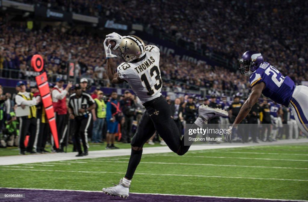 Divisional Round - New Orleans Saints v Minnesota Vikings : News Photo
