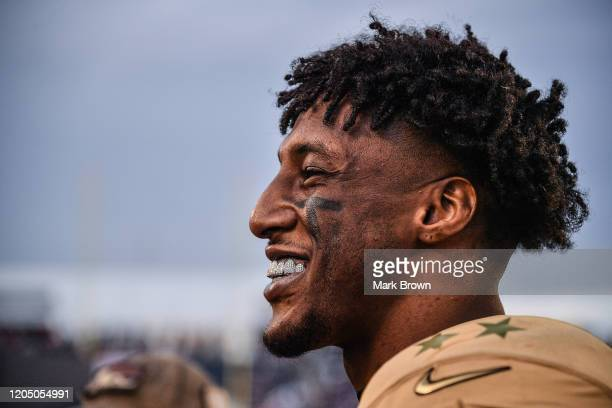 Michael Thomas of the New Orleans Saints looks on during the 2020 NFL Pro Bowl at Camping World Stadium on January 26 2020 in Orlando Florida