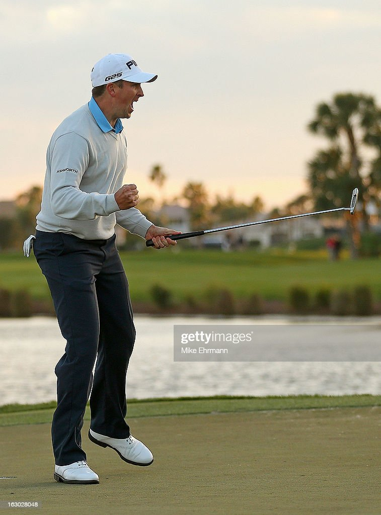Michael Thompson celebrates after winning the Honda Classic at PGA National Resort and Spa on March 3, 2013 in Palm Beach Gardens, Florida.