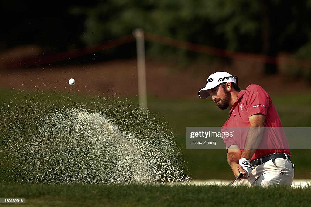 Michael Thompson of the United States in action during the second round of the WGC - HSBC Champions at the Sheshan International Golf Club on November 1, 2013 in Shanghai, China.