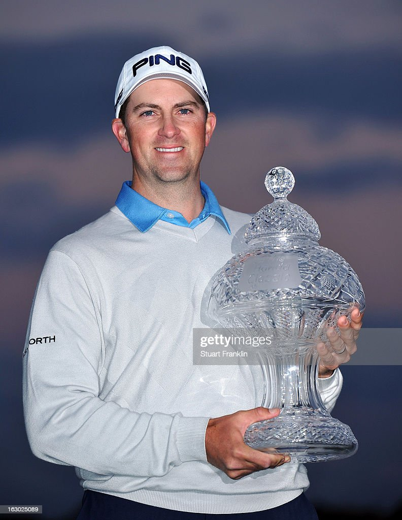Michael Thompson of USA holds the trophy after winning the Honda Classic on March 3, 2013 in Palm Beach Gardens, Florida.