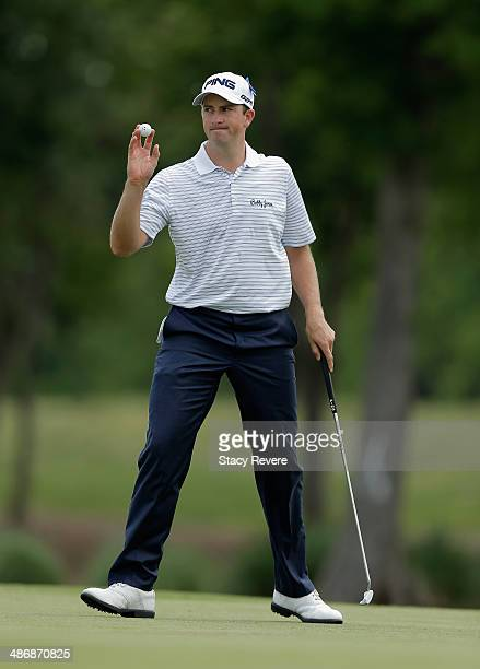Michael Thompson on the 2nd during Round Three of the Zurich Classic of New Orleans at TPC Louisiana on April 26 2014 in Avondale Louisiana