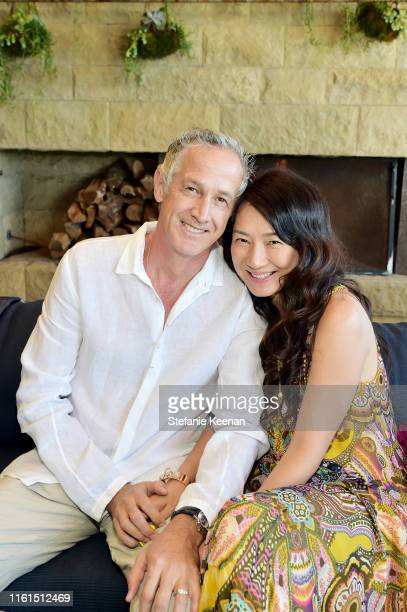 Michael Thomson and Sunghee Thomson attend Breguet Marine Collection Launch at Little Beach House Malibu on July 11 2019 in Malibu California