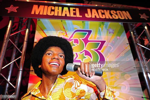 Michael Thurston A wax figure of Michael Jackson is on display June 22 2011 at a special exhibition marking the King of Pop's birthdate as well as...