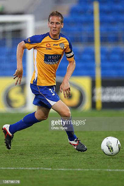 Michael Thwaite of United during the round one A-League match between Gold Coast United and Wellington Phoenix at Skilled Park on October 9, 2011 in...