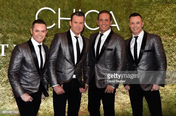 Michael Tierney Phil Burton Andrew Tierney and Toby Allen of the Australian vocal group Human Nature attend the grand opening of Chica at The...