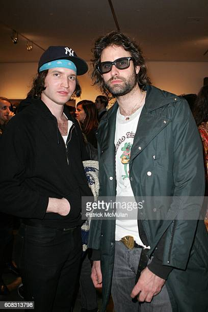 Michael Tighe and Andrew Wyatt attend SPIN and DKNY JEANS Present I TURN MY CAMERA ON Moments In Music at A Milk Gallery Project on April 10 2007 in...