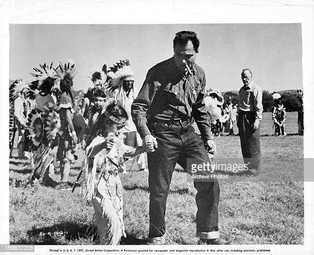 Michael Todd during work on the film 'Around The World In Eighty Days' 1956
