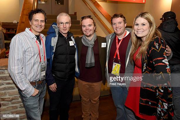 Michael Todd Michael Brook Bryce Jacobs Jeff Jernigan and Rachel Perkins attend ASCAP Composer Cocktail Party during the 2015 Sundance Film Festival...