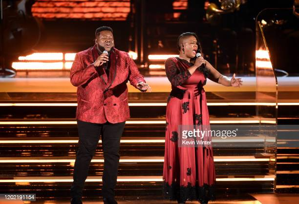 Michael Trotter Jr and Tanya BlountTrotter of The War and Treaty perform onstage during the 62nd Annual GRAMMY Awards at STAPLES Center on January 26...