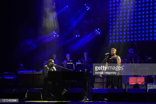 Michael Trotter Jr and Tanya BlountTrotter of The War and Treaty perform onstage during the Fourth Annual LOVE ROCKS NYC Benefit Concert For God's...