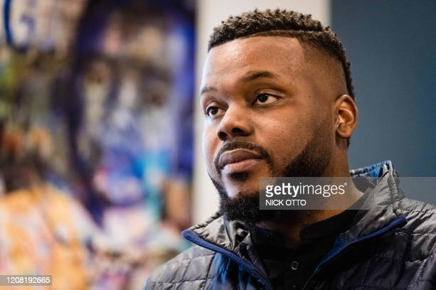 Michael Tubbs, Mayor of Stockton, is seen at his office in Stockton, California on February 7, 2020. - Mayor Tubbs with the help of the Stockton...